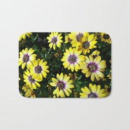 Yellow Spring Flowers Bath Mat