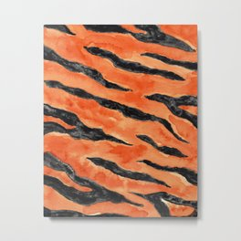 Tiger Stripes (Orange/Black) Metal Print