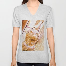 """It has hollow noses"" Unisex V-Neck"