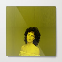 Sigourney Weaver - Celebrity (Florescent Color Technique) Metal Print