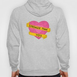 Stronger than you crystal heart Hoody