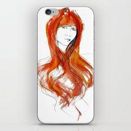 'Fringe' Fashion Illustration iPhone Skin
