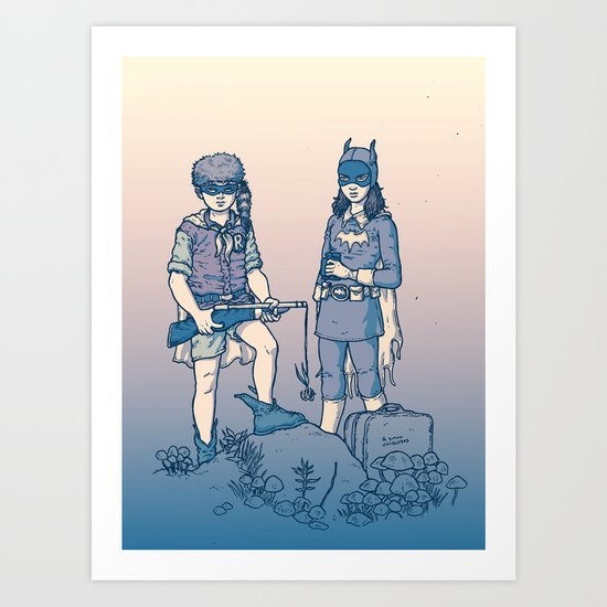 Moonrise Gotham Art Print