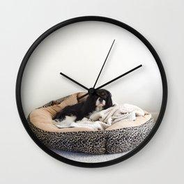 Sleepy Cavalier Wall Clock