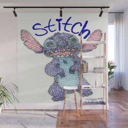 Stitch Word Art Wall Mural