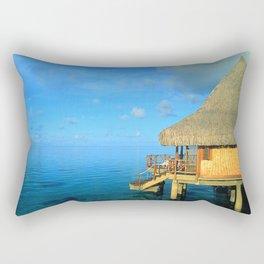 Over-the-Water Island Bungalow Rectangular Pillow