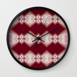 Pink on Red Wall Clock