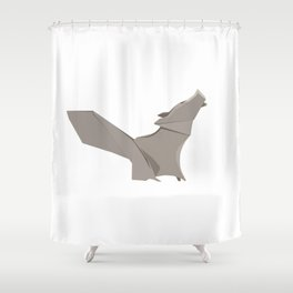 Origami Wolf Shower Curtain