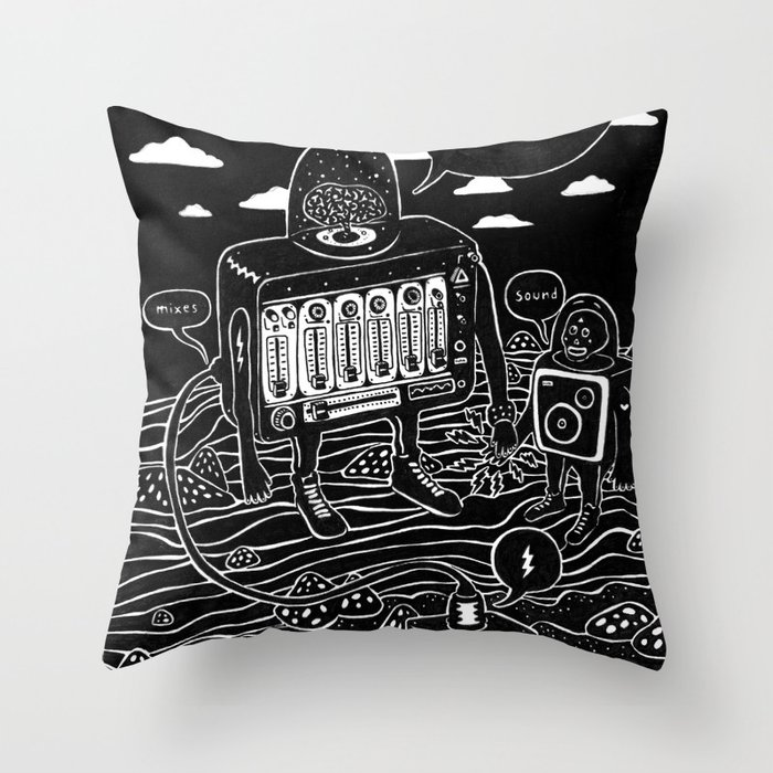 sound check Throw Pillow