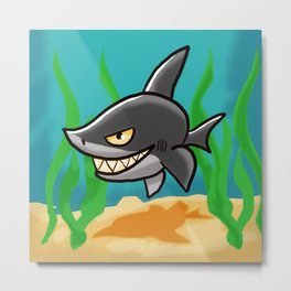 Toothy Shark Metal Print