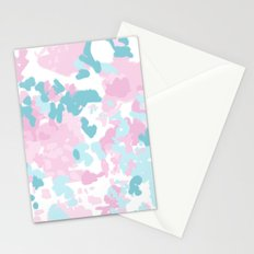 Cruz - abstract painting pastel pink and blue minimal modern decor for office home Stationery Cards