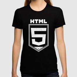 HTML5 Vintage Style Logo Shirt for Web Developers T-shirt