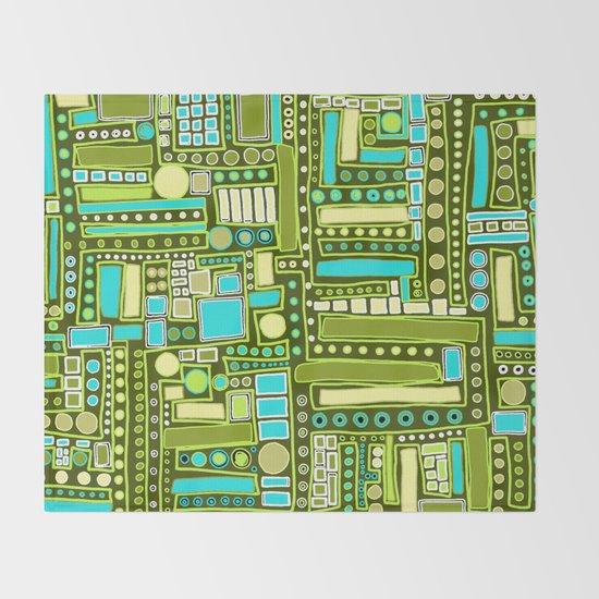 Mid-Century Modern Maze ~ Aqua & Forest by ka-doodle