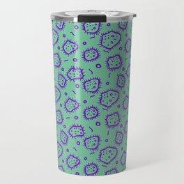 Amoeba Print, Green and Purple! Travel Mug