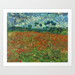 Vincent Van Gogh Poppy Field Art Print