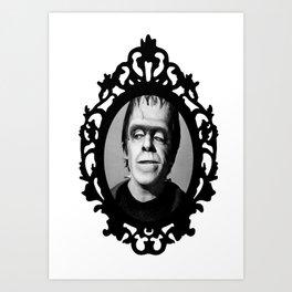 Herman Munster (Framed Horror) Art Print