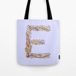 Leafy Letter E Tote Bag