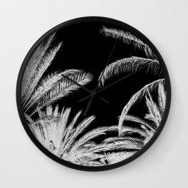 Palm Trees B&W Wall Clock