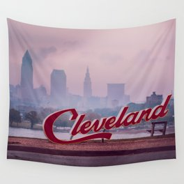 Homesick - Cleveland Skyline Wall Tapestry