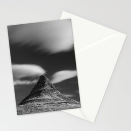 Mount Kirkjufell in Iceland under the sky Stationery Cards