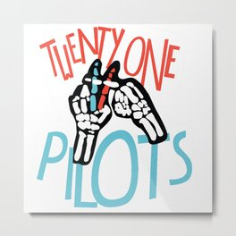 Twenty one pilot Metal Print