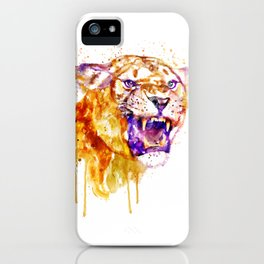 Angry Lioness iPhone Case