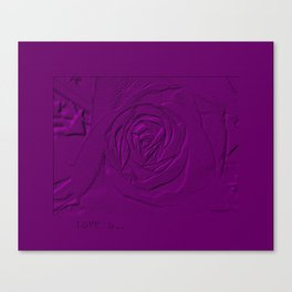 Rose. LOVE  is... Collection Canvas Print