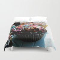 cupcakes Duvet Covers featuring Cupcakes by Gabby DaRienzo