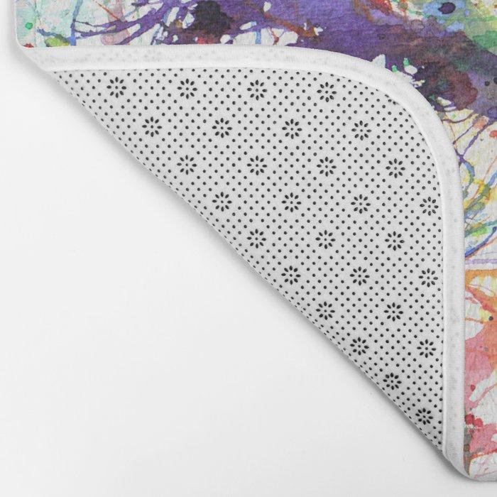 Watercolor Splatters Bath Mat