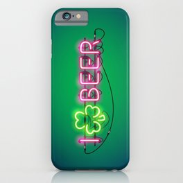 I Like Beer Neon Sign iPhone Case