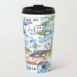 Panorama of Lindos Metal Travel Mug