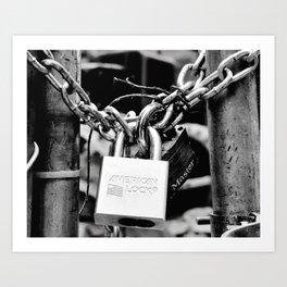 American lock Art Print