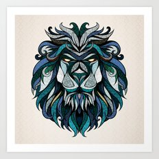 Blue Lion Art Print
