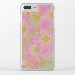 Pink Floral, The Earth Laughs In Flowers Clear iPhone Case