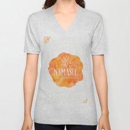 Namaste Mango color Unisex V-Neck