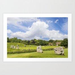 Avebury Stone Circle Art Print