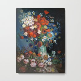 Flowers Still Life Painting Van Gogh Vintage Art Metal Print
