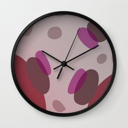 Simple, design dots choco pinks Wall Clock
