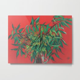 Ash-tree, red and  green Metal Print