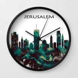 Jerusalem Skyline Wall Clock