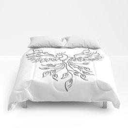 White Phoenix Comforters