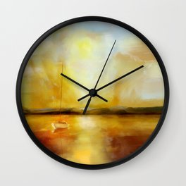 Anchored for the night Wall Clock
