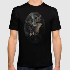 The Owl and the Mouse Black SMALL Mens Fitted Tee