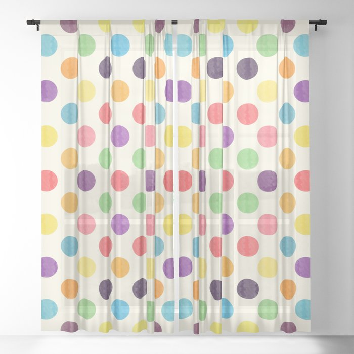 Lovely Dots Pattern II Sheer Curtain