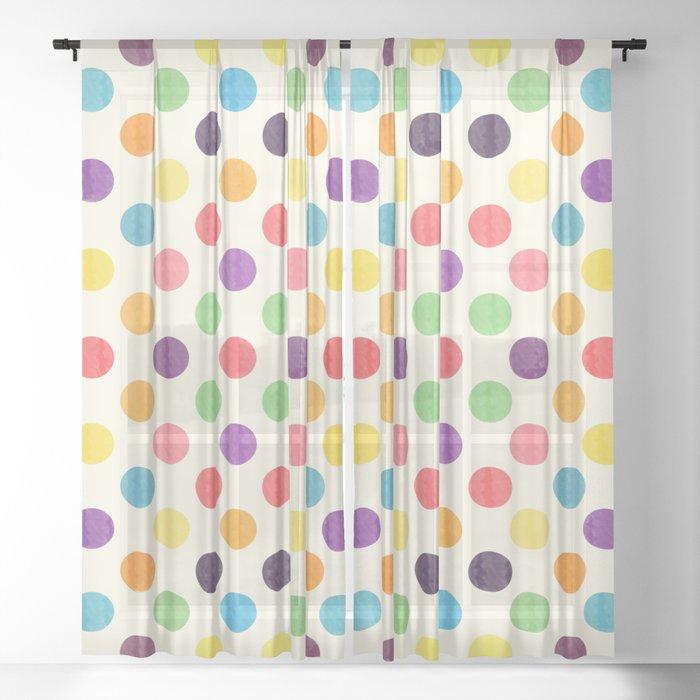 Lovely Dots Pattern II Sheer Curtain
