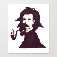 conan Canvas Prints featuring Sir Arthur Conan Doyle by VivienKunde