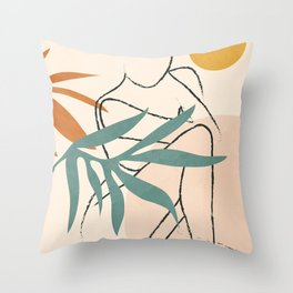 Minimal Line in Nature II Throw Pillow