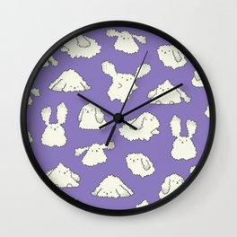 fluffy fluffy purple Wall Clock