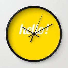 Hello - Yellow Wall Clock