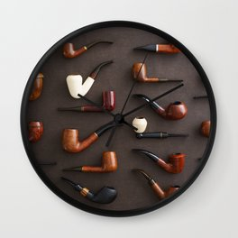 Collection of pipes Wall Clock